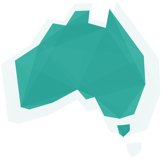 The shape of Australia.